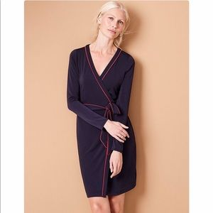 NWT Ann Taylor Navy Wrap Dress Size 12